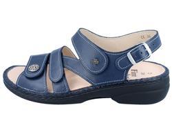 Details zu FINN COMFORT Gomera Damen Sandalen blau atlanticNube