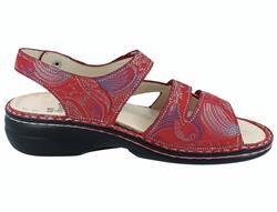 Details zu FINN COMFORT Gomera Damen Sandalen rot pomodoreShibu