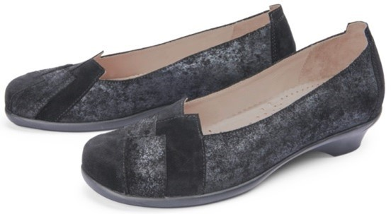 BÄR Schuhe Exquisit Anita schwarz Rindvelours