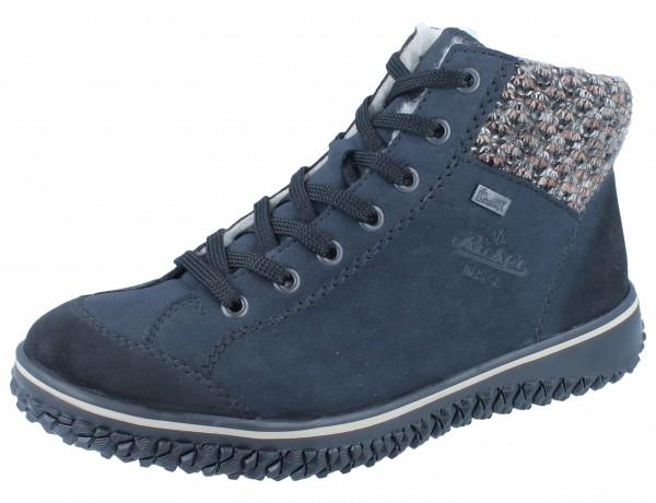 RIEKER Z4243-14 Stiefel blau Kombi