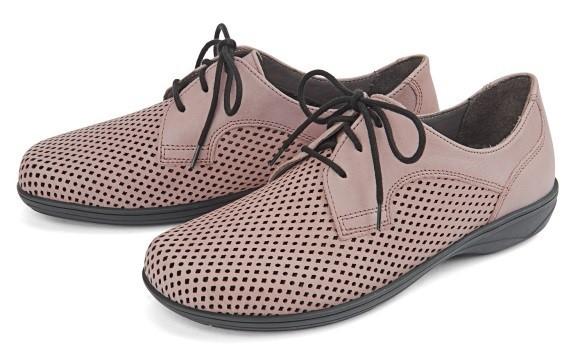 BÄR Schuhe Classic Tinka schlamm Kalbnappa/Kalbnappa perforiert