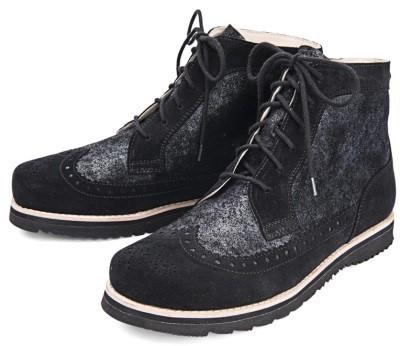 BÄR Schuhe Exquisit Alice schwarz Rindvelours/gepudertes Rindvelours in Perlatooptik
