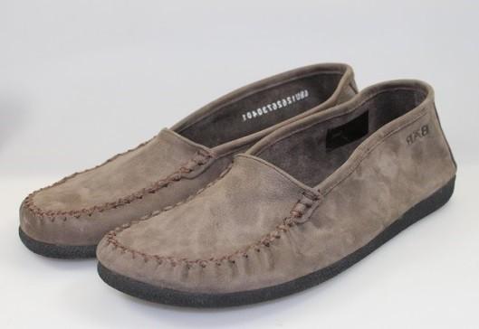 BÄR Schuhe Unisex leichte Mokassin San Remo fango/Rindnubuk