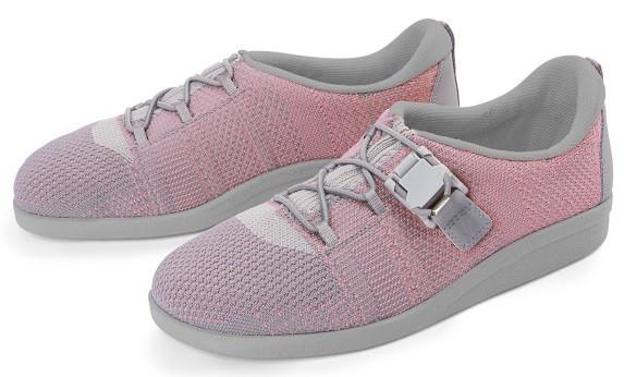 BÄR Schuhe Classic Franziska grau/rose Textil/Strickware vegan