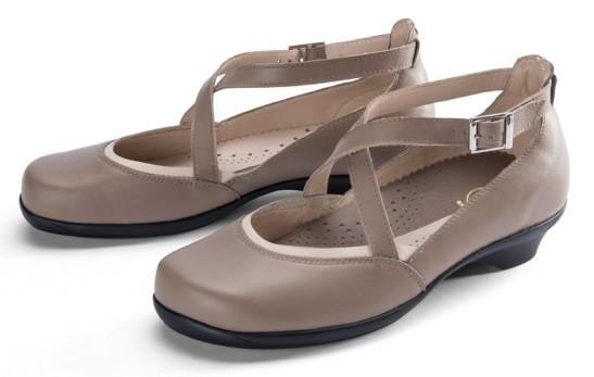 BÄR Schuhe Exquisit Stella fango/beige Rindnappa