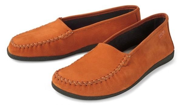 BÄR Schuhe Unisex leichte Mokassin San Remo orange/Rindnubuk
