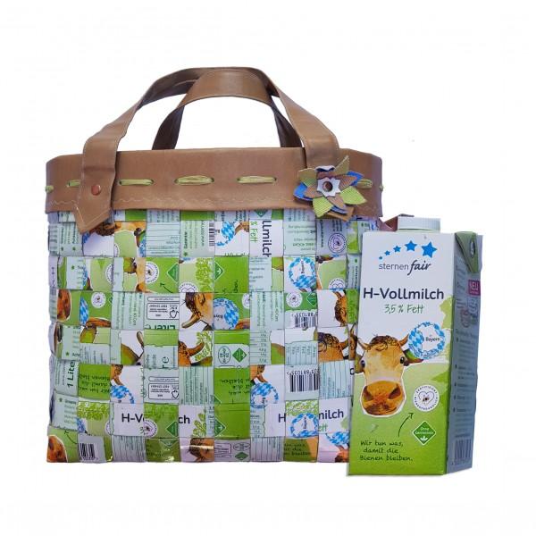 Recycling Tasche - aus Ihren Tetrapaks XXL ca. 30 cm x 20 cm x 27 cm