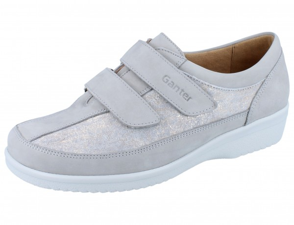 GANTER SENSITIV Inge I Kletthalbschuhe grey Softnubuk/Chic