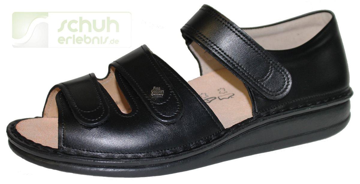 finn comfort baltrum schwarz nappa sandalen finn. Black Bedroom Furniture Sets. Home Design Ideas