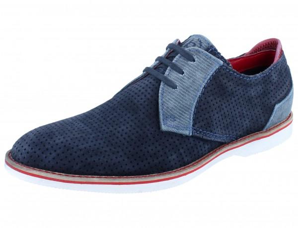 BUGATTI Biagino dark blue/light blue Leder/Textil