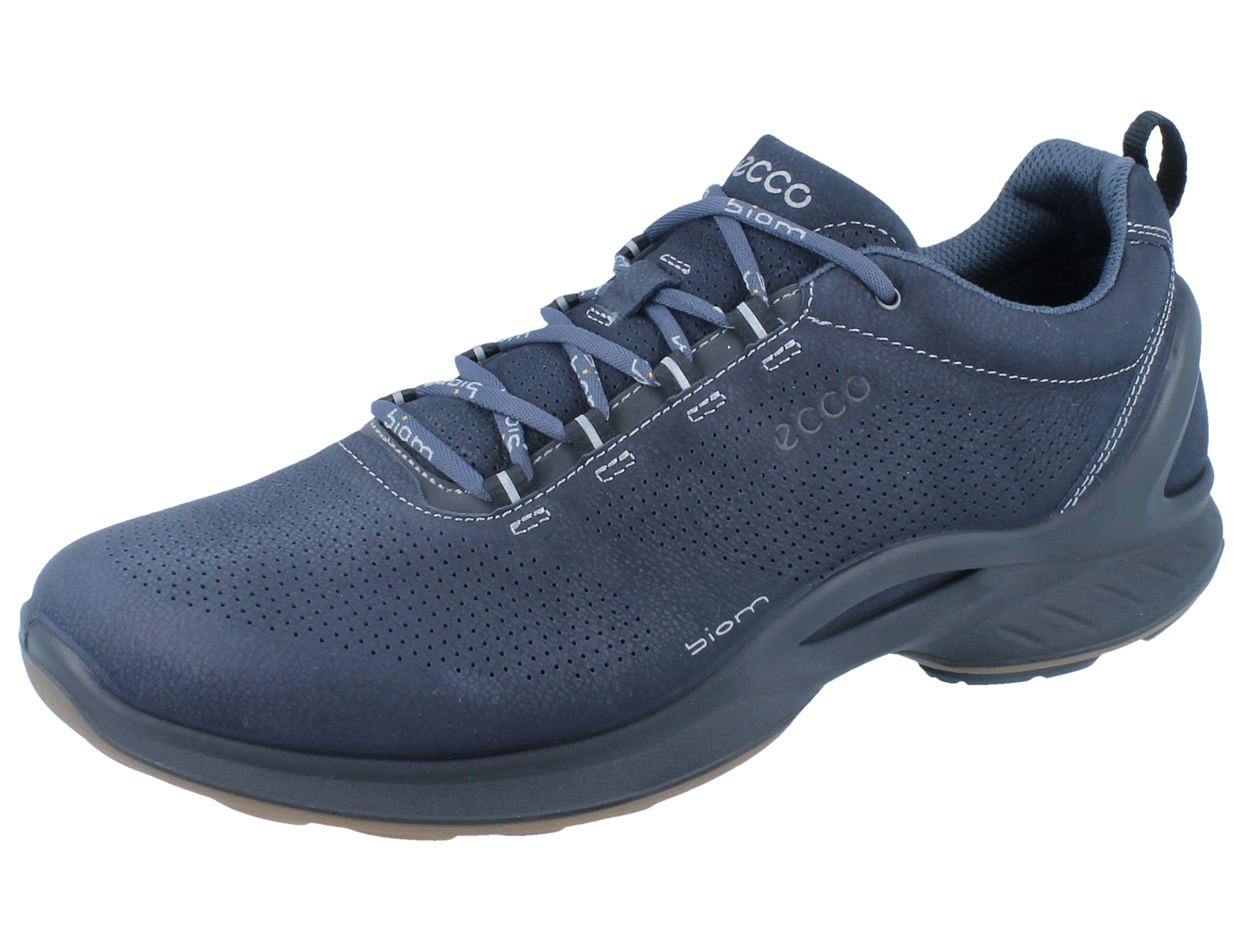 on feet shots of cheap sale release date: ECCO Biom Fjuel M navy/marine Leder