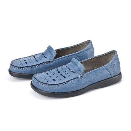 BÄR Schuhe Classic Aera blau/Elchleder