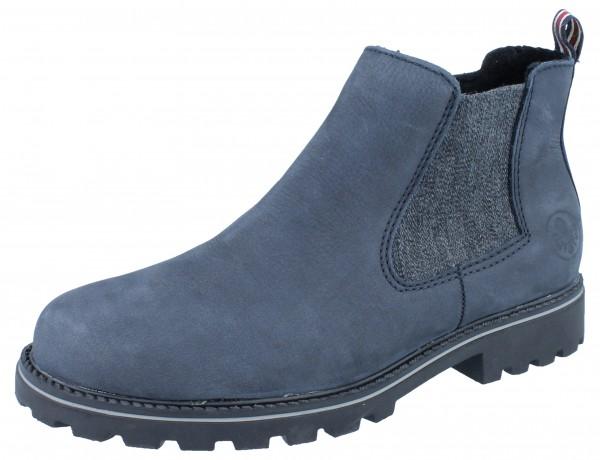 RIEKER Z1470-14 Stiefelette blau/Leder