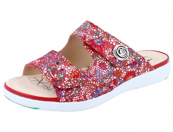 GANTER Gina G Pantolette red/Mosaico