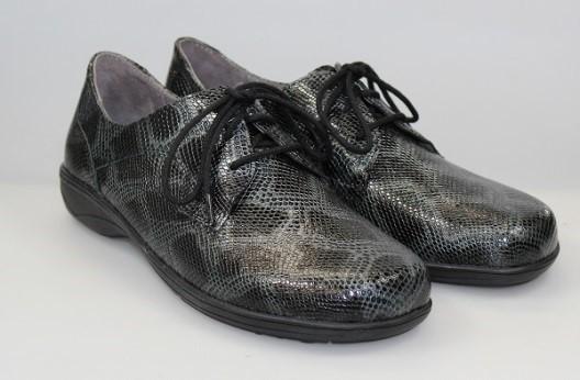 BÄR Schuhe Classic Fleurette schwarz/Kalbsnappa