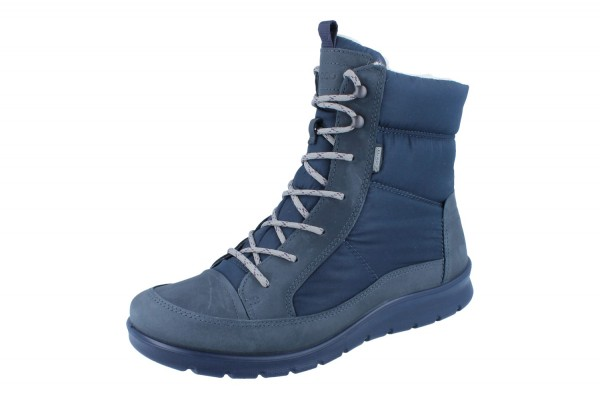 ECCO Babett Boot GTX Oil Nubuck/Textil marine/marine