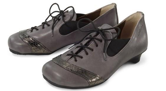 BÄR Schuhe Classic London grau Rindnappa/foliertes Ziegenleder