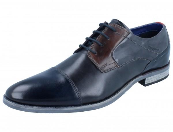 BUGATTI Luano dark blue/grey Leder