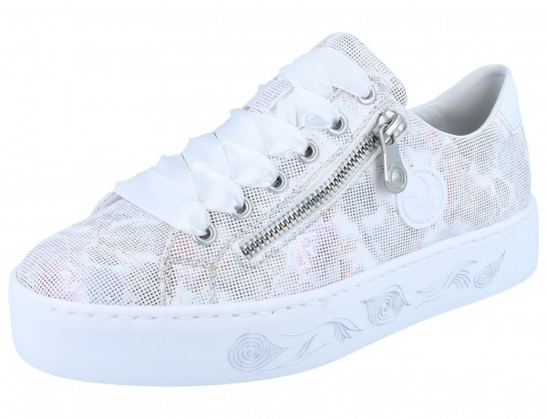 RIEKER N3731-90 Sneaker weiß kombi