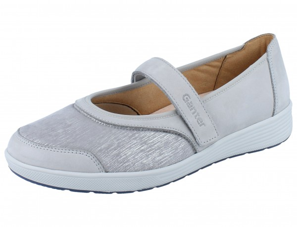GANTER SENSITIV Klara K Ballerina grey Softnubuk/Chicstretch