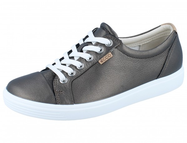 ECCO Soft 7 W black stone metallic/Leder