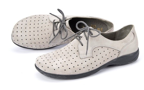 BÄR Schuhe Classic Tinka hellgrau/Rindnubuk