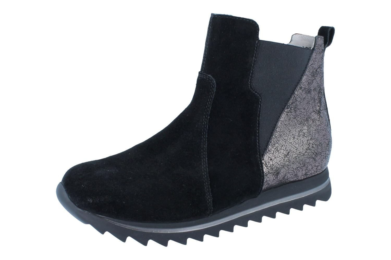 2018 shoes first rate quality products WALDLÄUFER Haiba schwarz/anthrazit Velour Shine