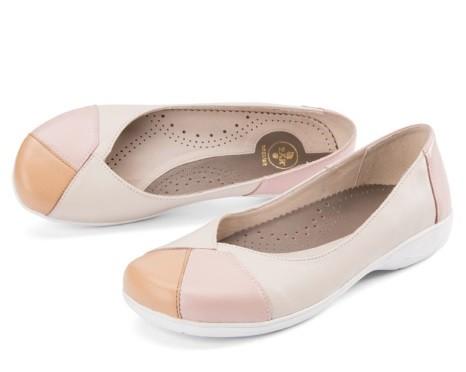 BÄR Schuhe Exquisit Sissy beige/rose/cappuccino Rindnappa