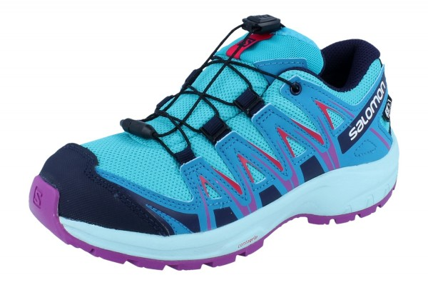 SALOMON XA Pro 3D CSWP J bluebird/fjord blue/purple cactus flower