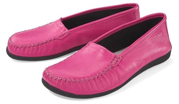 BÄR Schuhe Unisex leichte Mokassin San Remo pink/Kalbnappa