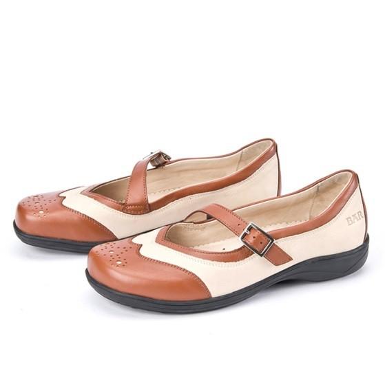 BÄR Schuhe Exquisit Vania beige/braun/Rindnubuk/Kalbnappa