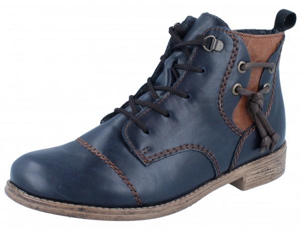 RIEKER 77441-14 Stiefelette blau Kombi