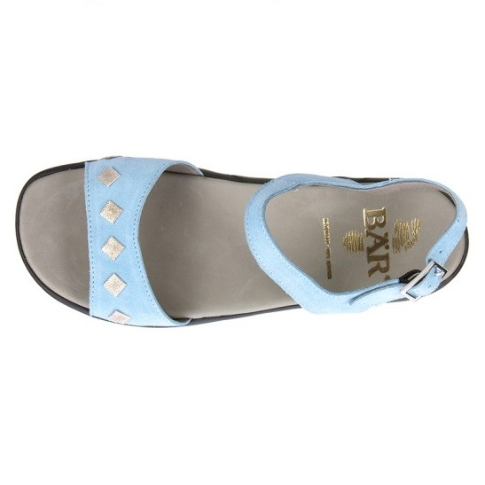 BÄR Schuhe Classic Imma hellblau/Rindvelours
