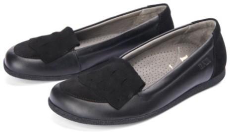 BÄR Schuhe Classic Nadja schwarz Rindvelours/Kalbnappa