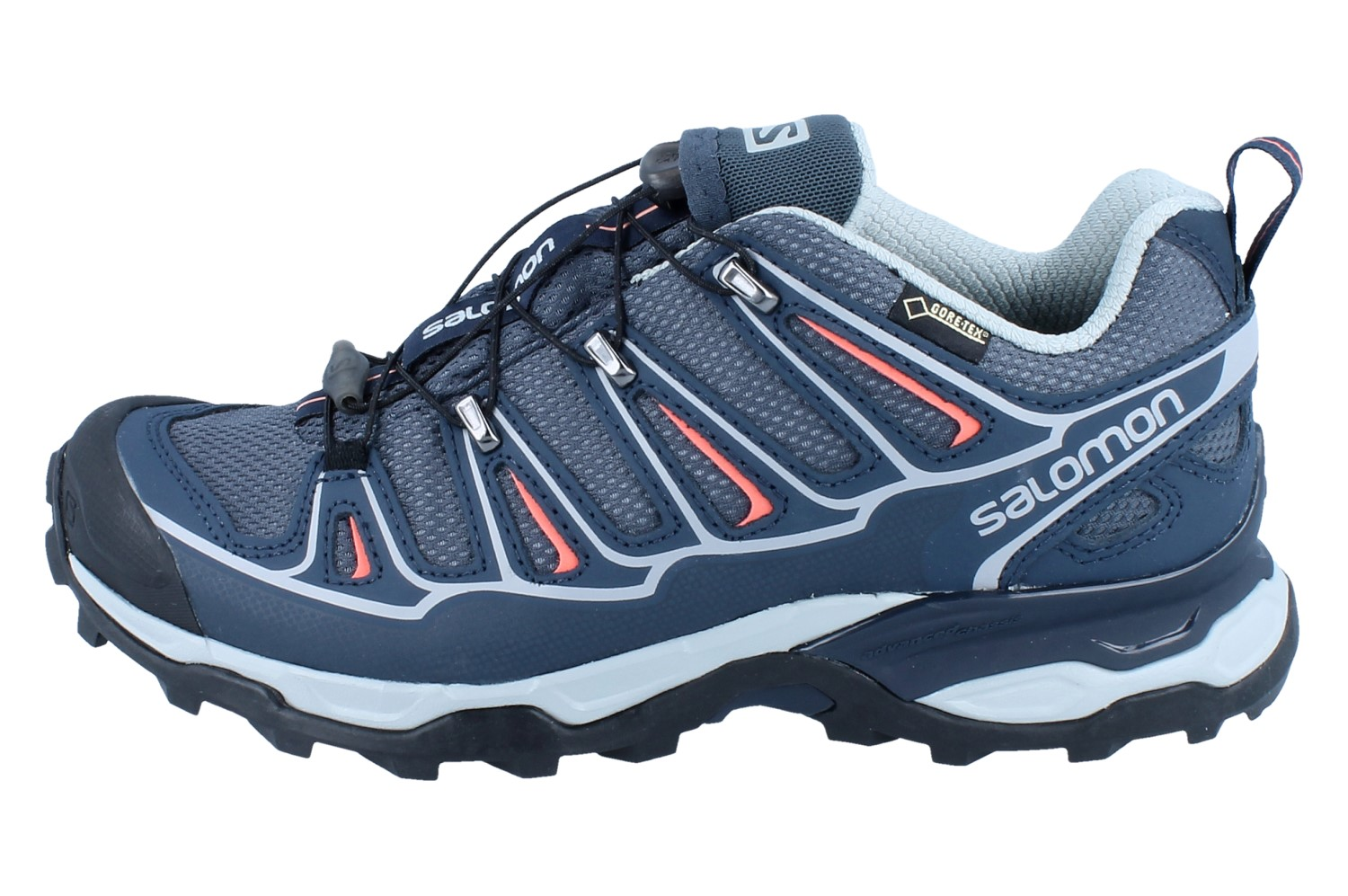 SALOMON X Ultra 2 GTX W grey denimdeep bluemelon bloom