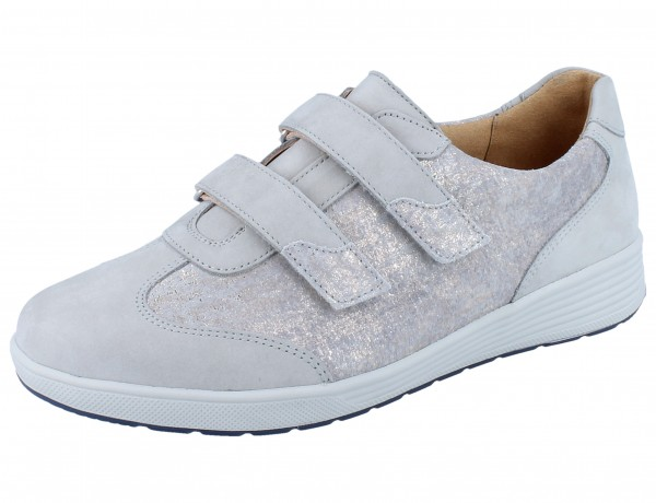 GANTER SENSITIV Klara K Kletthalbschuhe grey Softnubuk/Chic