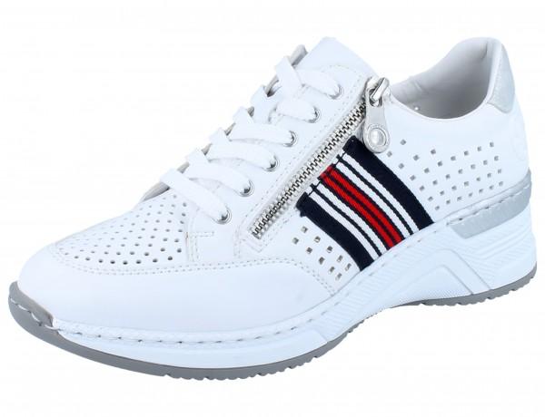 RIEKER N4325-80 Sneaker weiß extra Weit