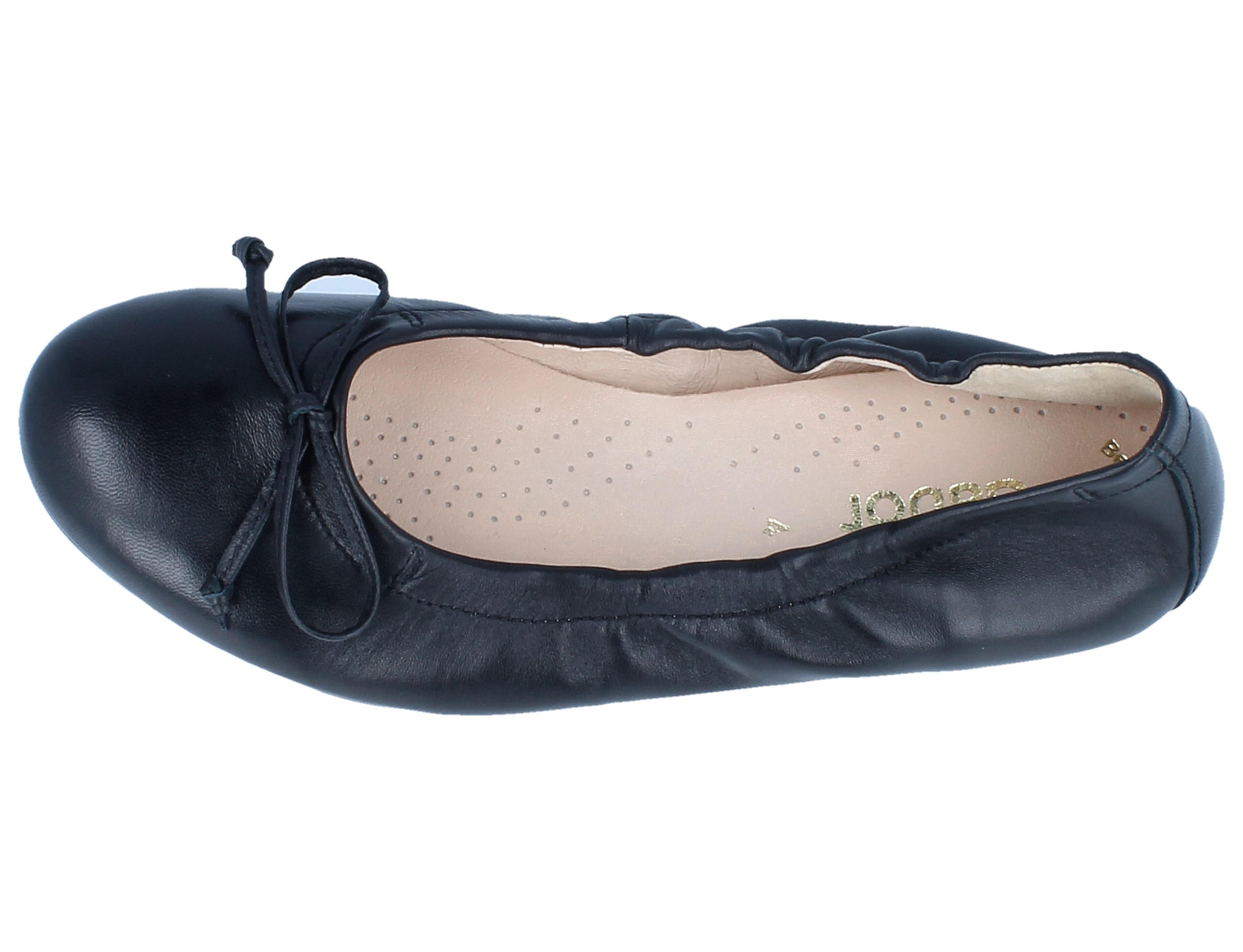 GABOR 24.120.27 Ballerina schwarz Lammnappa