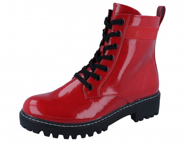 S.OLIVER 25256-25-504 Stiefelette red patent