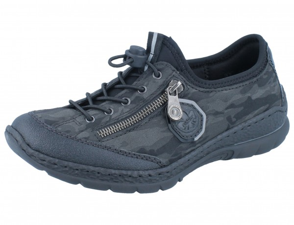 RIEKER N2263-00 schwarz/grau Jura/Military