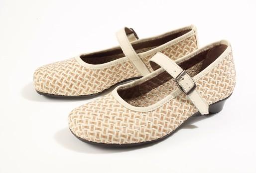 BÄR Schuhe Exquisit Marta beige/braun Lammnappaleder/Chevrauleder