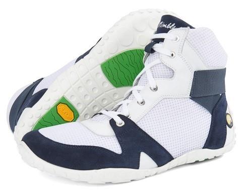 JOE NIMBLE Schuhe HoopToes weiß/blau Textil/Rindvelours/Rindnappa