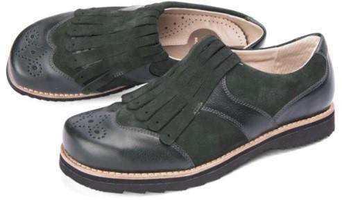 BÄR Schuhe Exquisit Abigail moosgrün Rindvelours/Kalbnappa