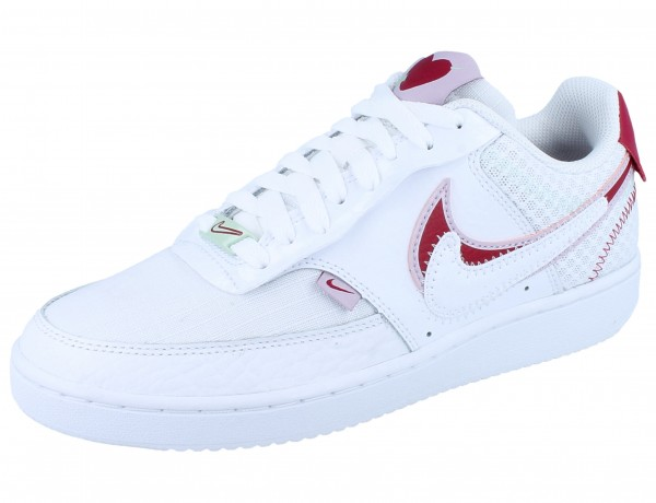 NIKE WMNS Court Vision Lo Prmv white/noble red-iced lilac