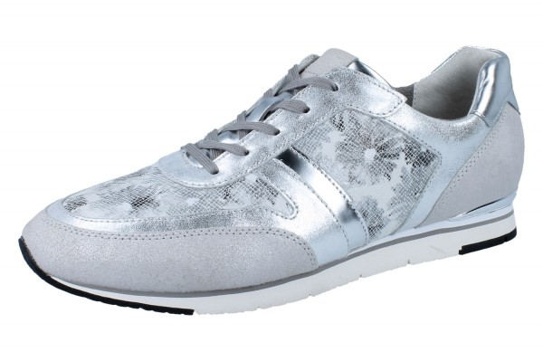 GABOR Fashion 44.321.41 Lifestyleschnürer velour/metal/flower argento/ice/silber