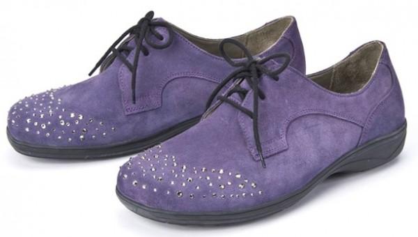 BÄR Schuhe Exquisit Tiziana pflaume/Rindvelours