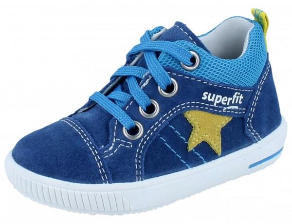 SUPERFIT Moppy blau/gelb Veloursleder/Textil Weite M