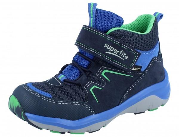 SUPERFIT Sport5 blau/grün Velourleder/Textil/GTX Weite M