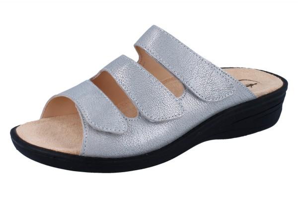 GANTER Hera H Pantolette sterling Rusticmetal-Leder