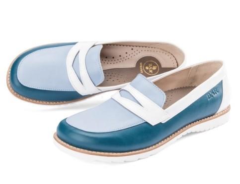 BÄR Schuhe Exquisit Sienna petrol/hellblau/weiss Lammnappa/Kalblack/Rindnappa